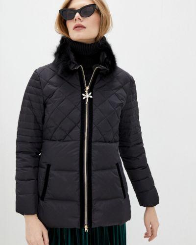 Утепленная черная куртка Blugirl Folies