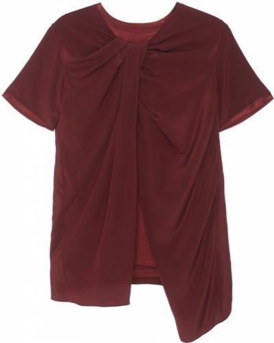 Блузка с драпировкой красная Sies Marjan