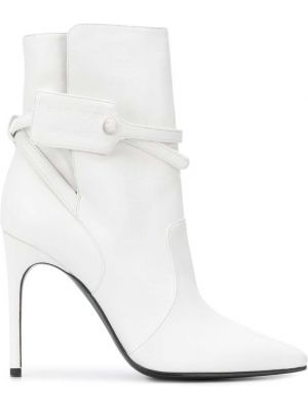 Buty na obcasie na pięcie z ostrym nosem Off-white