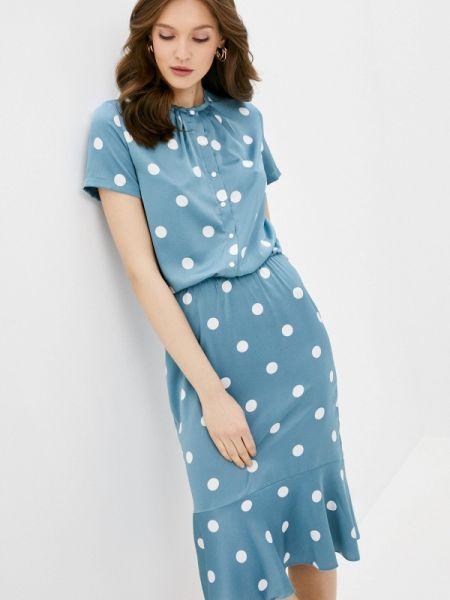 Прямое бирюзовое платье Adzhedo