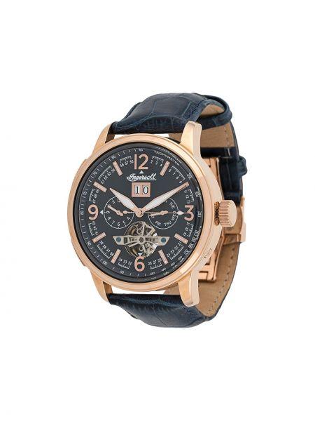 Синие с ремешком часы механические круглые Ingersoll Watches