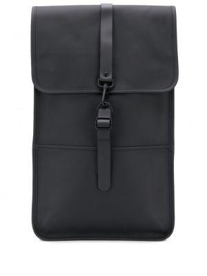 Черный рюкзак на бретелях с карманами Rains