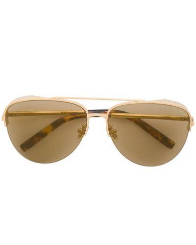 Желтые солнцезащитные очки металлические Boucheron Eyewear