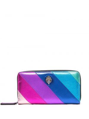 Фиолетовый кошелек для монет с нашивками с карманами со шлицей Kurt Geiger London