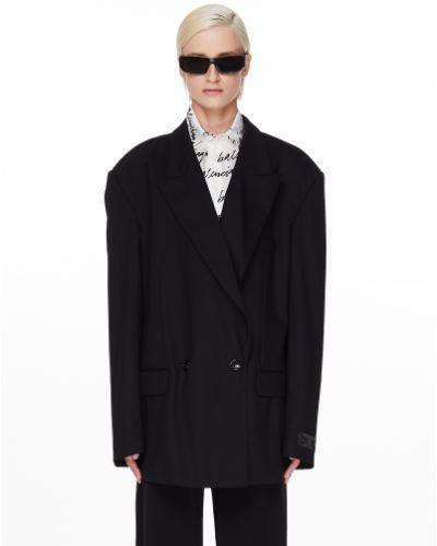 Шерстяной черный пиджак Vetements