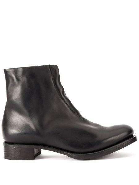 Кожаные черные кожаные ботинки Cherevichkiotvichki