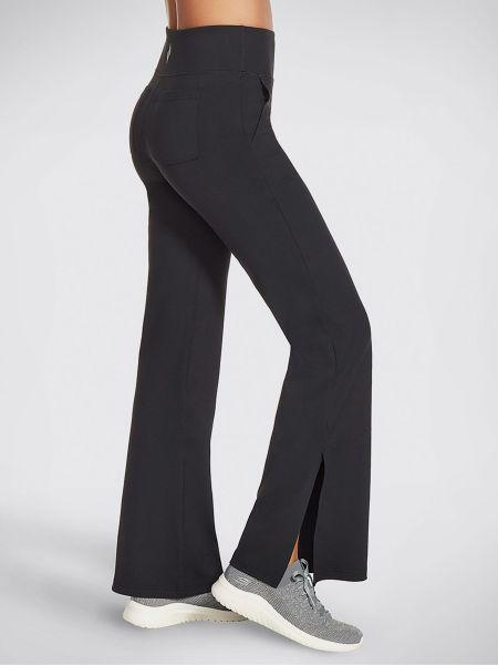 Черные с завышенной талией спортивные брюки с карманами Skechers