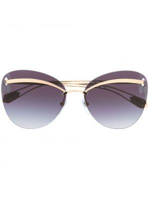 Золотистые желтые солнцезащитные очки Bvlgari