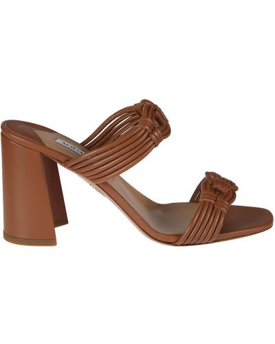 Brązowe sandały Aquazzura