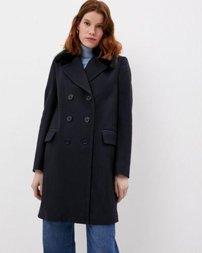 Черное пальто French Connection