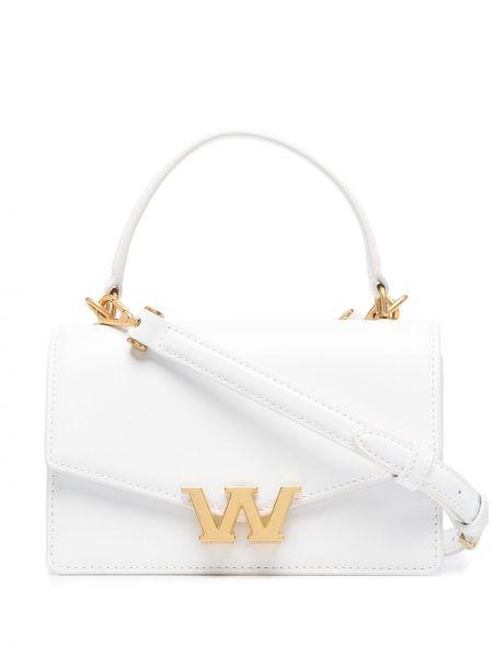 Золотистая кожаная белая маленькая сумка Alexander Wang