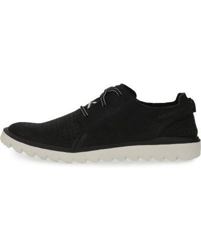 Черные кожаные полуботинки на шнурках Merrell