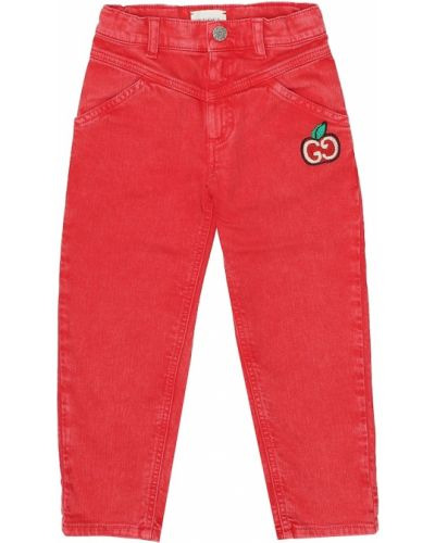 Bawełna bawełna jeansy z haftem rozciągać Gucci Kids