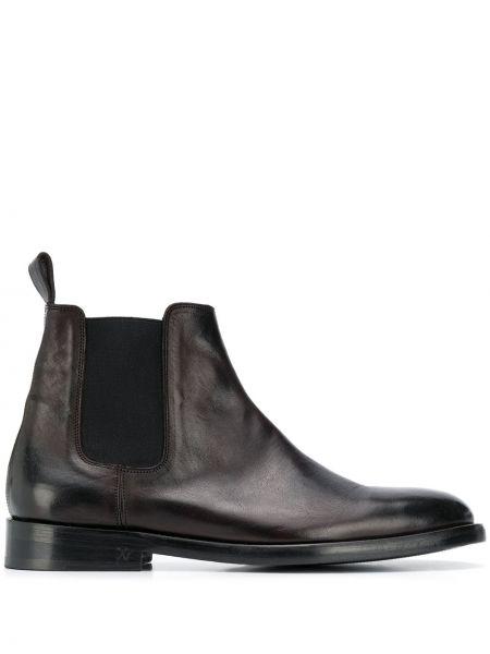 Кожаные коричневые ботинки челси на каблуке эластичные Zadig&voltaire