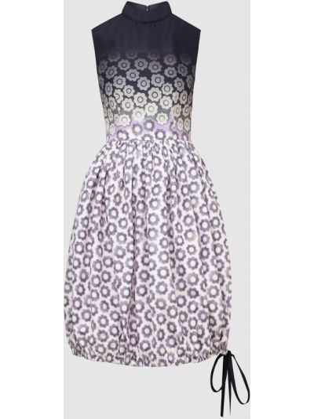 Шелковое белое платье миди Prada