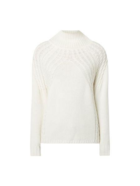 Biały sweter wełniany z raglanowymi rękawami Pennyblack