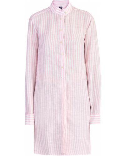 b0d77e0c7a1 Блузка с длинным рукавом в полоску с воротником-стойкой Mc2 Saint Barth