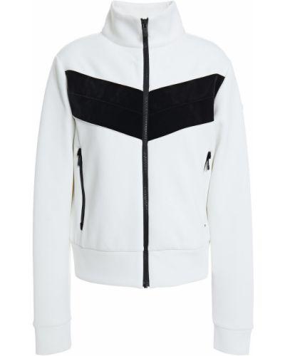 Biała kurtka z aksamitu Fusalp