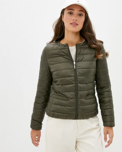Теплая зеленая утепленная куртка снежная королева