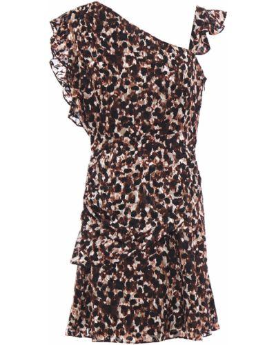 Sukienka mini z szyfonu z printem Rachel Zoe
