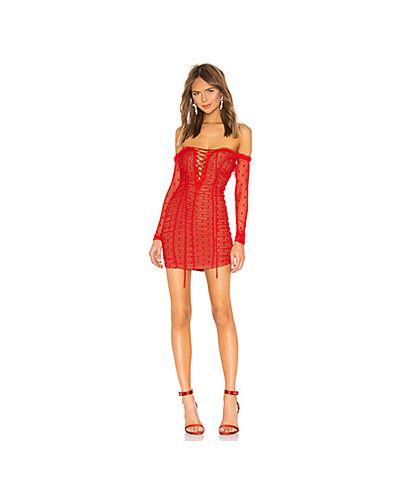 Платье мини на шнуровке сетчатое Majorelle