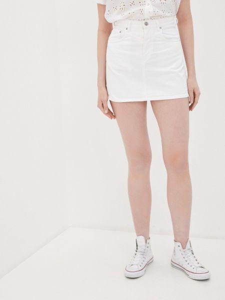 Белая джинсовая юбка Pepe Jeans