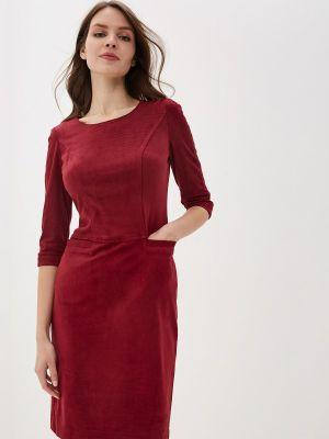 Платье бордовый прямое Aelite
