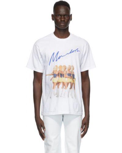 Biały t-shirt bawełniany krótki rękaw Mowalola
