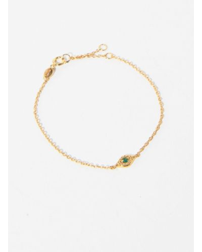 Серебряный браслет золотой металлический Parfois
