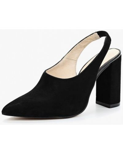 Туфли на каблуке велюровые Zign