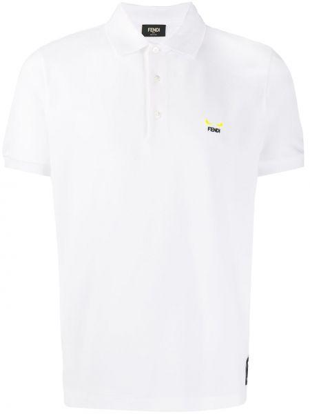 Koszula krótkie z krótkim rękawem z logo z mankietami Fendi