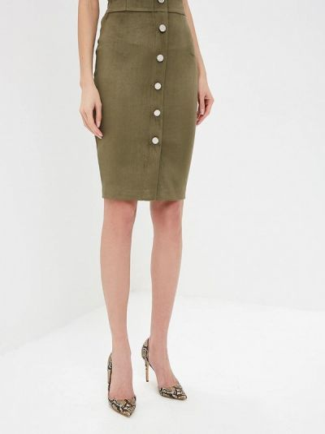 Кожаная юбка хаки Teratai