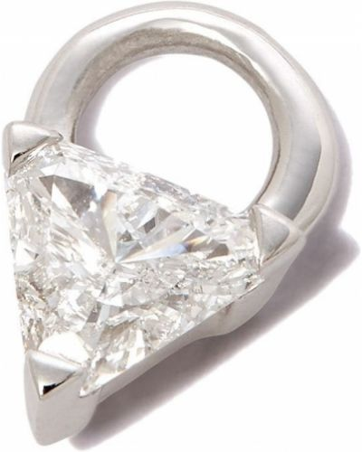 Biały charms srebrny Maria Tash