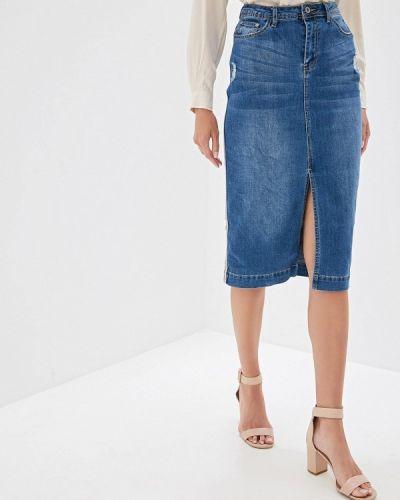 Джинсовая юбка синяя Vilatte