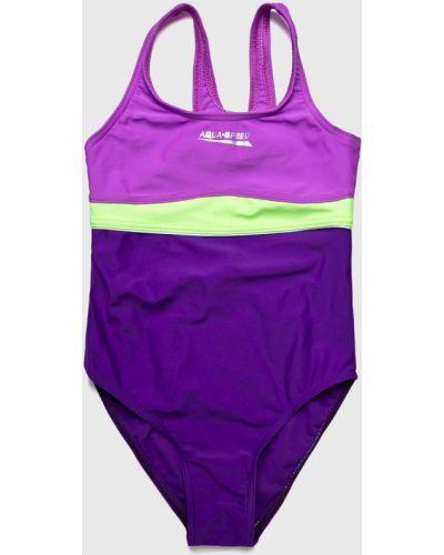 Слитный купальник эластичный фиолетовый Aqua Speed