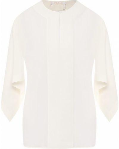 Блузка шелковая бежевый Chloé