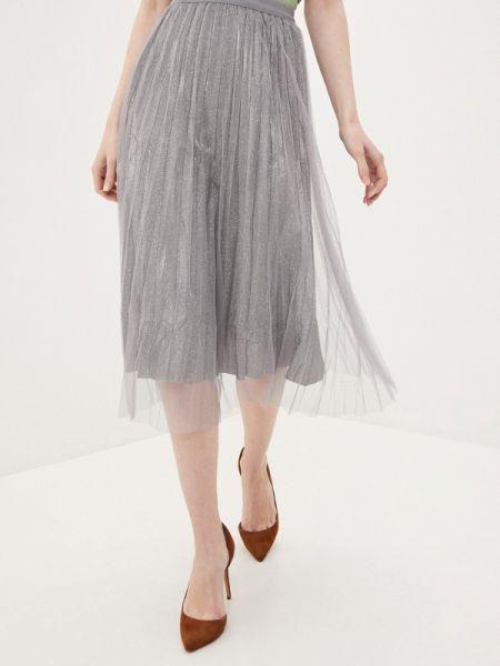 Плиссированная юбка весенняя серая By Swan