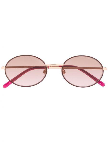 Золотистые желтые солнцезащитные очки металлические Marc Jacobs Eyewear