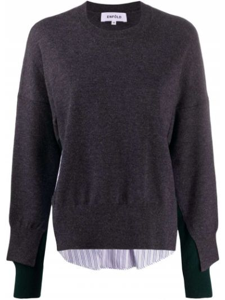Bawełna z rękawami wełniany koszula Enfold