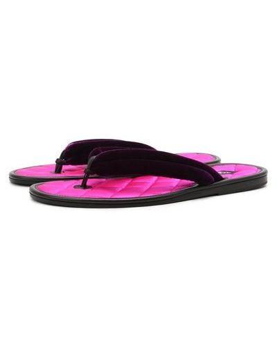 Розовые кожаные шлепанцы Tom Ford