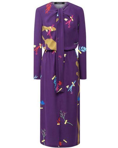 Платье миди шелковое фиолетовый Poustovit
