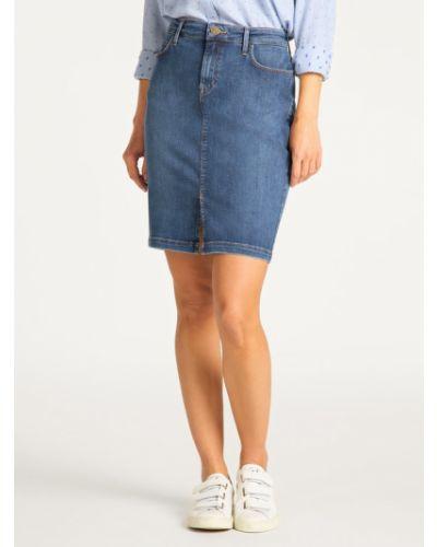 Spódnica jeansowa - granatowa Lee
