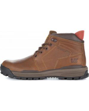 Кожаные ботинки со шнуровкой коричневый Caterpillar