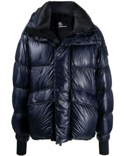 Czarna długa kurtka pikowana oversize Moncler