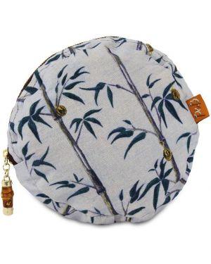 Ażurowa niebieska torebka z printem Poodle & Blonde