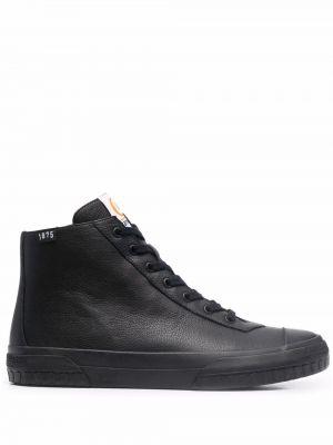 Черные кожаные кеды Camper