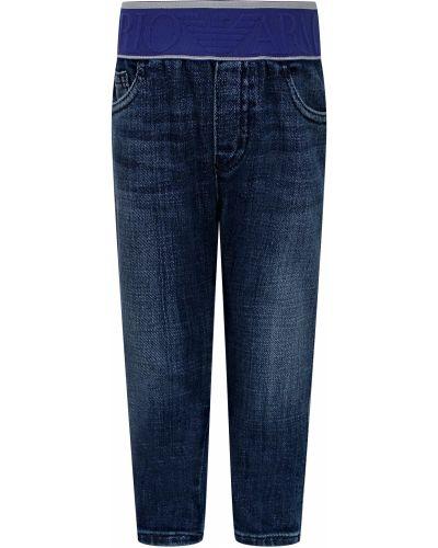 Хлопковые синие джинсы Armani Junior