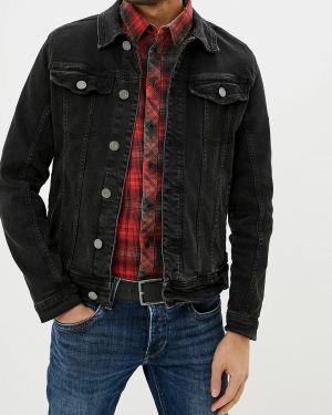 Джинсовая куртка черная осенняя Blend