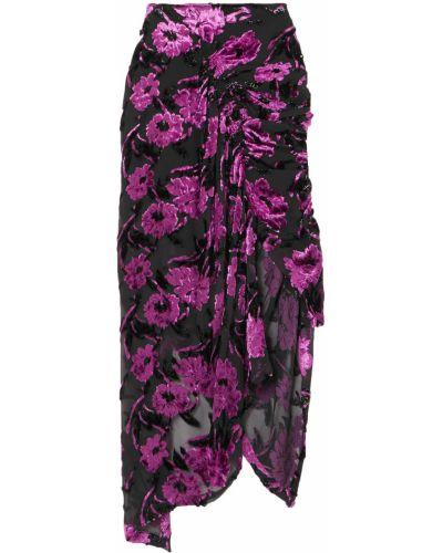 Шелковая юбка миди - фиолетовая Preen By Thornton Bregazzi