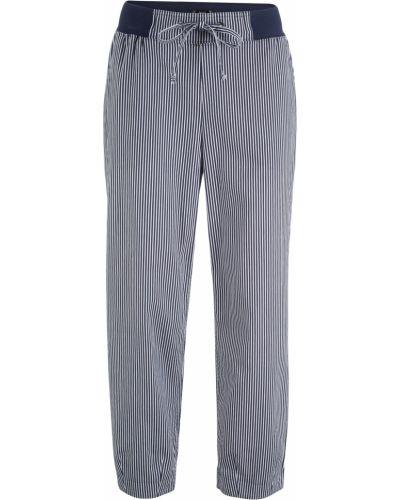 Хлопковые брюки с высокой посадкой с завязками Bonprix